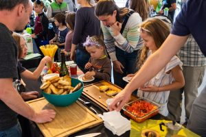 Children's program crostini crowd