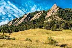 Flatirons mountains