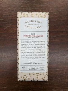 Dandelion Chocolate Ambanja, Madagascar 70%