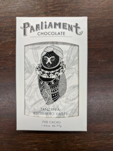Parliament Chocolate's Tanzania Kilombero Valley 70% bar