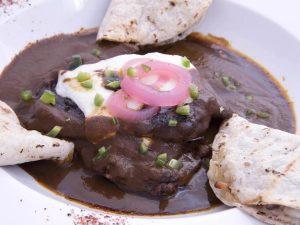 Zocalito Skirt Steak in Negro Mole