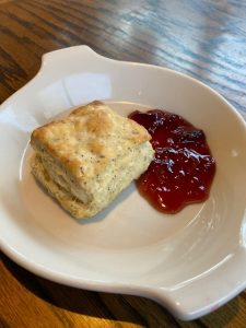 Jimmy's Ranch Biscuit with Blueberry Jam